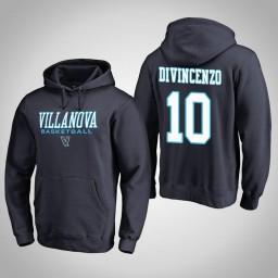 Villanova Wildcats #10 Donte DiVincenzo Men's Navy College Basketball Hoodie