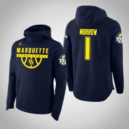 Marquette Golden Eagles #1 Ed Morrow Men's Navy College Basketball Hoodie