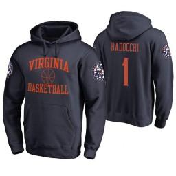 Virginia Cavaliers #1 Francesco Badocchi Men's Navy College Basketball Hoodie