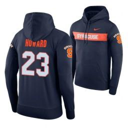 Syracuse Orange #23 Frank Howard Men's Navy Pullover Hoodie
