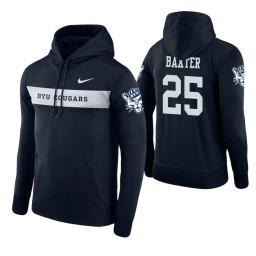 BYU Cougars #25 Gavin Baxter Men's Navy Pullover Hoodie