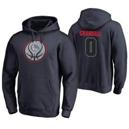 Gonzaga Bulldogs #0 Geno Crandall Men's Game Ball Basketball Navy Hoodie