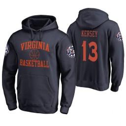 Virginia Cavaliers #13 Grant Kersey Men's Navy College Basketball Hoodie