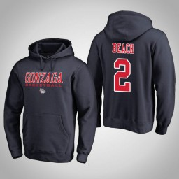 Gonzaga Bulldogs #2 Jack Beach Men's Navy College Basketball Hoodie