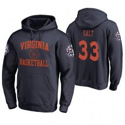 Virginia Cavaliers #33 Jack Salt Men's Navy College Basketball Hoodie