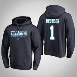 Villanova Wildcats #1 Jalen Brunson Men's Navy College Basketball Hoodie