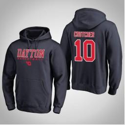 Dayton Flyers #10 Jalen Crutcher Men's Navy College Basketball Hoodie
