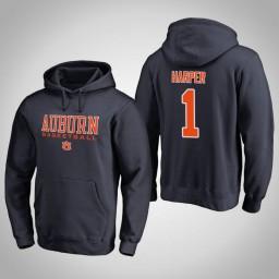 Auburn Tigers #1 Jared Harper Men's Navy College Basketball Hoodie