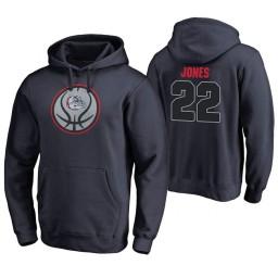 Gonzaga Bulldogs #22 Jeremy Jones Men's Game Ball Basketball Navy Hoodie