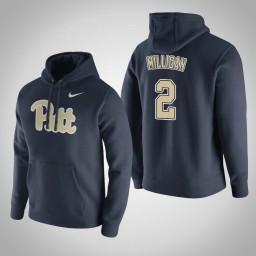 Pittsburgh Panthers #2 Jonathan Milligan Men's Navy Pullover Hoodie