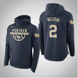 Pittsburgh Panthers #2 Jonathan Milligan Men's Navy College Basketball Hoodie