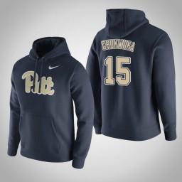 Pittsburgh Panthers #15 Kene Chukwuka Men's Navy Pullover Hoodie