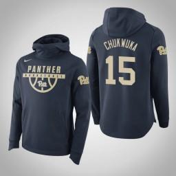 Pittsburgh Panthers #15 Kene Chukwuka Men's Navy College Basketball Hoodie