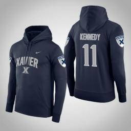 Xavier Musketeers #11 Keonte Kennedy Men's Navy College Basketball Hoodie