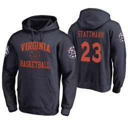 Virginia Cavaliers #23 Kody Stattmann Men's Navy College Basketball Hoodie