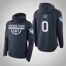 BYU Cougars #0 Kolby Lee Men's Navy College Basketball Hoodie