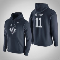 Uconn Huskies #11 Kwintin Williams Men's Navy Pullover Hoodie