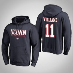 Uconn Huskies #11 Kwintin Williams Men's Navy College Basketball Hoodie