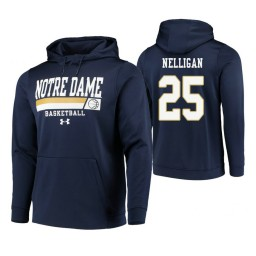 Notre Dame Fighting Irish #25 Liam Nelligan Men's Navy College Basketball Hoodie