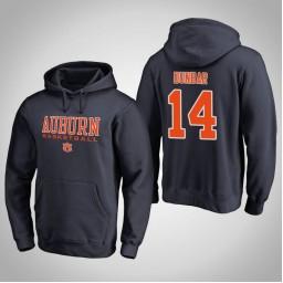 Auburn Tigers #14 Malik Dunbar Men's Navy College Basketball Hoodie
