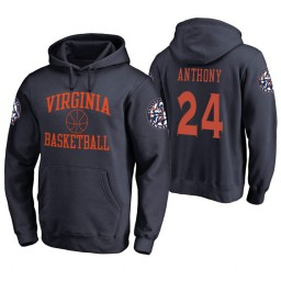 Virginia Cavaliers #24 Marco Anthony Men's Navy College Basketball Hoodie