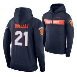 Syracuse Orange #21 Marek Dolezaj Men's Navy Pullover Hoodie
