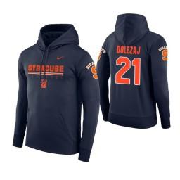 Syracuse Orange #21 Marek Dolezaj Men's Navy Hoodie