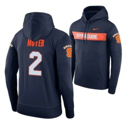 Syracuse Orange #2 Matthew Moyer Men's Navy Pullover Hoodie