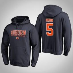 Auburn Tigers #5 Mustapha Heron Men's Navy College Basketball Hoodie
