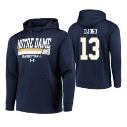 Notre Dame Fighting Irish #13 Nikola Djogo Men's Navy College Basketball Hoodie