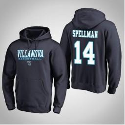 Villanova Wildcats #14 Omari Spellman Men's Navy College Basketball Hoodie