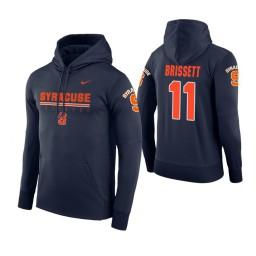Syracuse Orange #11 Oshae Brissett Men's Navy Hoodie