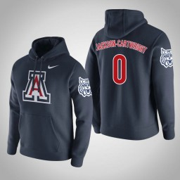 Arizona Wildcats #0 Parker Jackson-Cartwright Men's Navy Pullover Hoodie