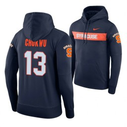 Syracuse Orange #13 Paschal Chukwu Men's Navy Pullover Hoodie