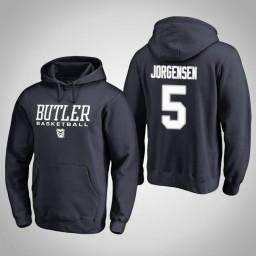 Butler Bulldogs #5 Paul Jorgensen Men's Navy College Basketball Hoodie