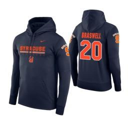 Syracuse Orange #20 Robert Braswell Men's Navy Hoodie