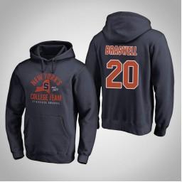 Syracuse Orange #20 Robert Braswell Men's Navy Pullover Hoodie