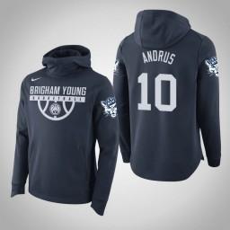 BYU Cougars #10 Ryan Andrus Men's Navy College Basketball Hoodie