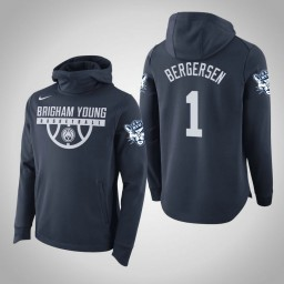BYU Cougars #1 Rylan Bergersen Men's Navy College Basketball Hoodie