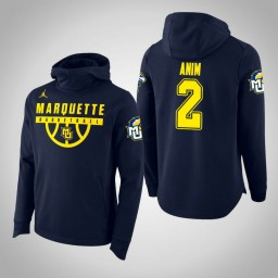 Marquette Golden Eagles #2 Sacar Anim Men's Navy College Basketball Hoodie