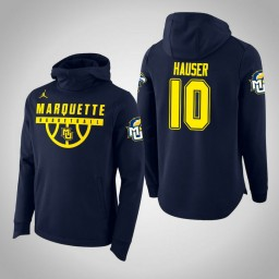 Marquette Golden Eagles #10 Sam Hauser Men's Navy College Basketball Hoodie
