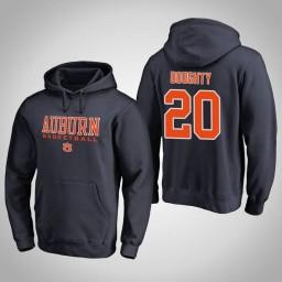 Auburn Tigers #20 Samir Doughty Men's Navy College Basketball Hoodie