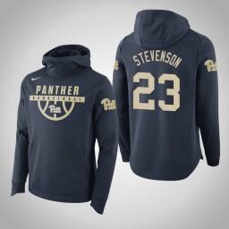 Pittsburgh Panthers #23 Shamiel Stevenson Men's Navy College Basketball Hoodie
