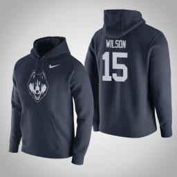Uconn Huskies #15 Sidney Wilson Men's Navy Pullover Hoodie