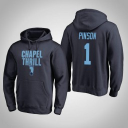 North Carolina Tar Heels #1 Theo Pinson Men's Navy Pullover Hoodie