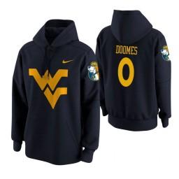 West Virginia Mountaineers #0 Trey Doomes Men's Navy College Basketball Hoodie