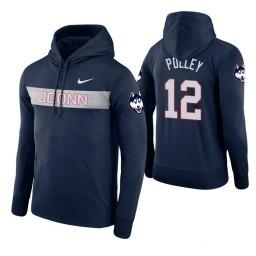 Uconn Huskies #12 Tyler Polley Men's Navy Pullover Hoodie