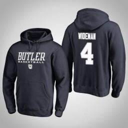 Butler Bulldogs #4 Tyler Wideman Men's Navy College Basketball Hoodie