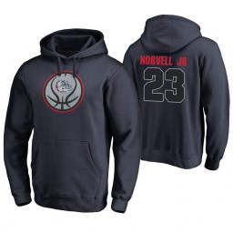 Gonzaga Bulldogs #23 Zach Norvell Jr. Men's Game Ball Basketball Navy Hoodie