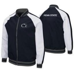 Penn State Nittany Lions Navy Kent Full-Zip Bomber Jacket